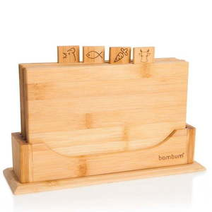 Stojak z 4 deskami z do krojenia z bambusu Bambum Tapenade obraz