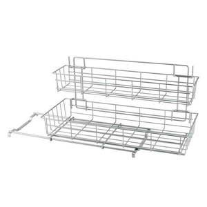 Dodatkowa 2-poziomowa półka kuchenna Metaltex Limpio obraz