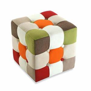 Bawełniany puf Versa Red Cube obraz