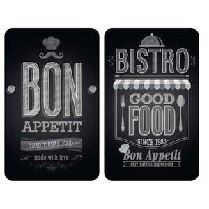 Zestaw 2 szklanych płyt ochronnych na kuchenkę Wenko Bon Appetit, 52x30 cm obraz