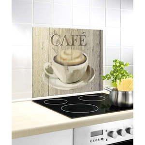 Szklana płyta ochronna na ścianę przy kuchence Wenko Café, 60x50 cm obraz