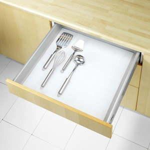 Biała podkładka antypoślizgowa do szuflady Wenko Anti Slip, 150x50 cm obraz