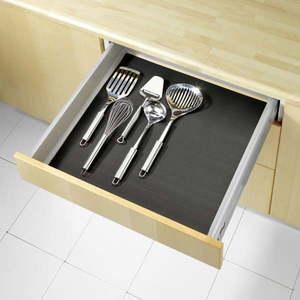 Czarna podkładka antypoślizgowa do szuflady Wenko Anti Slip, 150x50 cm obraz