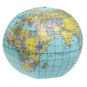 Globus dmuchany Rex London World Map obraz