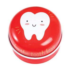 Czerwony metalowy pojemnik na mleczaki Rex London Tooth Fairy obraz