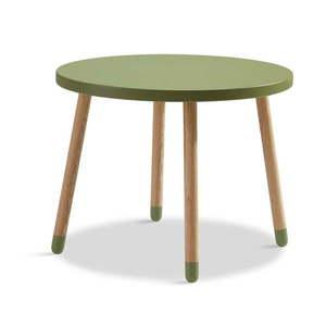 Zielony stolik Flexa Play, ø 60 cm obraz