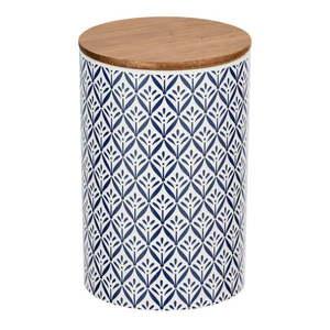 Ceramiczny pojemnik z bambusową pokrywką Wenko Lorca, 1, 45 l obraz