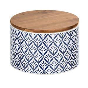 Ceramiczny pojemnik z bambusową pokrywką Wenko Lorca, 750 ml obraz
