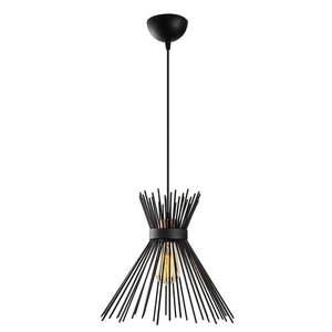 Czarna metalowa lampa wisząca Opviq lights Rosalia obraz