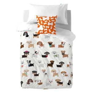 Dziecięca pościel bawełniana z poszewką na poduszkę Mr. Fox Dogs, 140x200 cm obraz