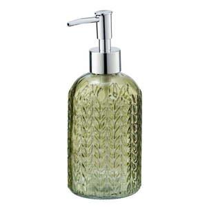 Zielony szklany dozownik do mydła Wenko Vetro obraz