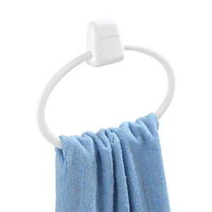 Biały okrągły ścienny uchwyt na ręczniki Wenko Pure obraz