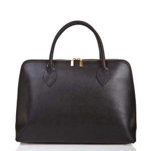 Czarna torebka skórzana Massimo Castelli Liana obraz