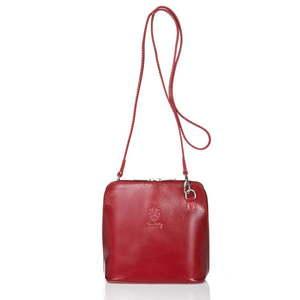 Czerwona torebka skórzana Giorgio Costa Jacintha obraz