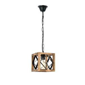 Lampa wisząca z drewna grabu Zikzak Rustik obraz