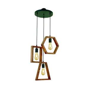 Lampa wisząca z drewna grabu Simetri obraz