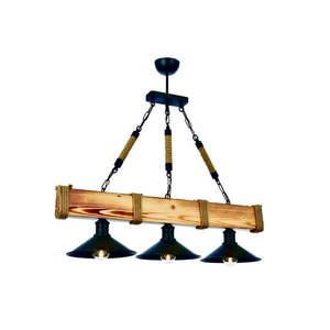 Lampa wisząca z drewna grabu Kütük Yanık obraz