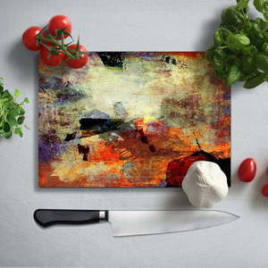 Kolorowa deska do krojenia z utwardzonego szkła Insigne Fatallo, 35x25 cm obraz