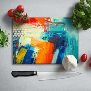 Kolorowa deska do krojenia z utwardzonego szkła Insigne Friga, 35x25 cm obraz