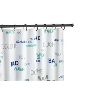 Czarny drążek teleskopowy na zasłonę prysznicową Wenko Shower Curtain Rod obraz