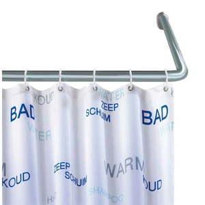 Uniwersalny narożny drążek na zasłonę prysznicową Wenko Shower Curtain Rod obraz