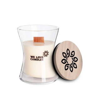 Świeczka z wosku sojowego We Love Candles Ivory Cotton, 48 h obraz