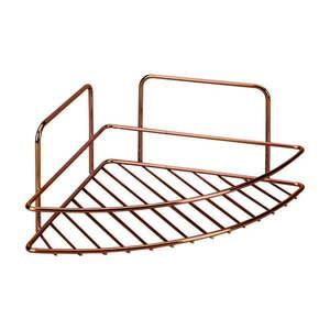 Narożna półka łazienkowa Metaltex Copper obraz