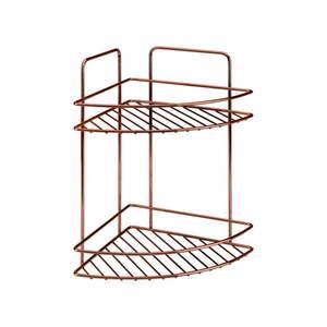 2-poziomowa narożna półka łazienkowa Metaltex Copper obraz