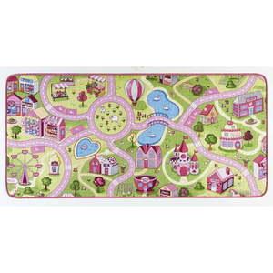 Chodnik dziecięcy z różowymi detalami Hanse Home City, 200x300 cm obraz