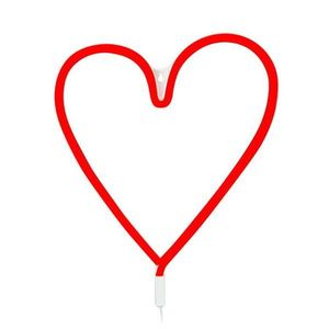 Czerwona dekoracja LED serce Markslöjd Vegas obraz