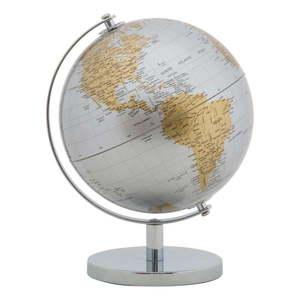 Dekoracja na stół w kolorze srebrno-złotym Mauro Ferretti Globe, wys. 28 cm obraz