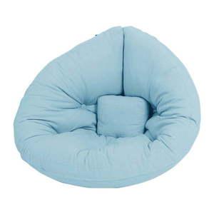 Jasnoniebieski dziecięcy fotel rozkładany Karup Design Mini Nido Light Blue obraz