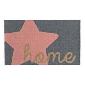 Szaro-różowa wycieraczka Zala Living Design Star Home Grey Pink, 50x70 cm obraz