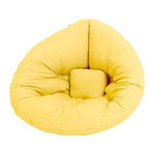 Żółty dziecięcy fotel rozkładany Karup Design Mini Nido Yellow obraz