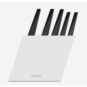 Zestaw 5 noży w białym bloku Vialli Design Volo obraz