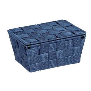Ciemnoniebieski koszyk z pokrywką Wenko Adria obraz