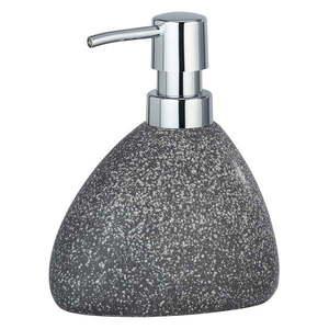 Szary ceramiczny dozownik do mydła Wenko Pion obraz