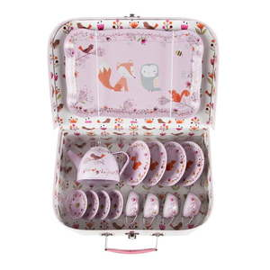Różowy dziecięcy kuferek piknikowy Sass & Belle Woodland Friends obraz
