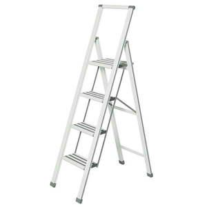 Biała drabina składana Wenko Ladder, wys. 153 cm obraz