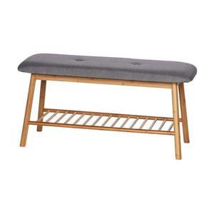 Bambusowa ławka łazienkowa Wenko Bahari obraz
