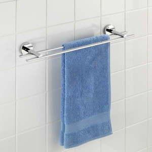 Podwójny wieszak na ręczniki z przyssawką Wenko Vacuum-Loc Capri, do 33 kg obraz