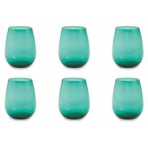 Zestaw 6 turkusowych szklanek Villa d'Este Happy Hour obraz