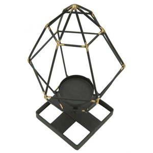 Czarny świecznik z żelaza Mauro Ferretti Piramid obraz