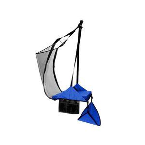 Krzesło 1 osobowe z hamakiem na nogi, Niebieski Crua HoverChair Xtend obraz
