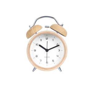 Kremowy budzik z białą tarczą Karlsson Classic Bell, ⌀ 10 cm obraz