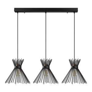 Czarna lampa wisząca z 3 kloszami Opviq lights Kirpi obraz