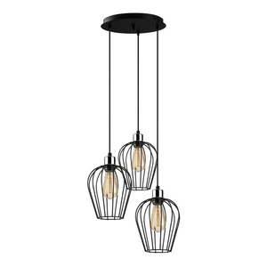 Czarna lampa wisząca z 3 kloszami Opviq lights Tel obraz