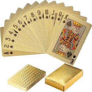 Złote karty do gry obraz