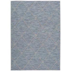 Niebieski dywan odpowiedni na zewnątrz Universal Cork, 130x190 cm obraz