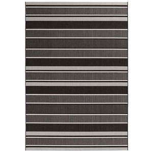 Czarny dywan odpowiedni na zewnątrz Bougari Strap, 200x290 cm obraz